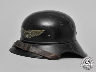 "Germany, Luftschutz. An Air Raid Protection ""Gladiator"" Helmet, c.1939"