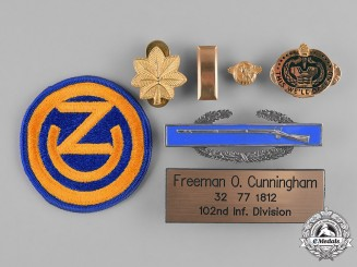 United States. A Group to Freeman O. Cunningham, 102nd Infantry Division