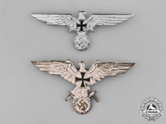 Germany.  A Pair Veterans Organization Breast Eagles