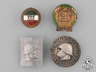 Italy, Kingdom. A Lot of Four Fascist Badges