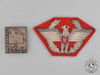 Italy, Kingdom. Two Badges & Insignia
