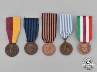Italy, Kingdom. A Lot of Five Medals