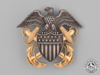 United States. A Navy Officer's Cap Badge, c.1940
