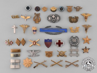 United States. Thirty-Eight Insignia Badges
