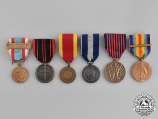 Belgium, Finland, France, Greece, United States. A Lot of Six Medals