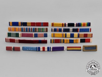 United States. A Lot of Twelve Ribbon Bars