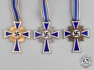 Germany. A Cross of Honour of the German Mother, Bronze, Silver, and Gold Class