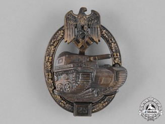 Germany, Heer. A Special Grade Tank Badge for 25 Panzer Engagements, by Josef Feix & Söhne