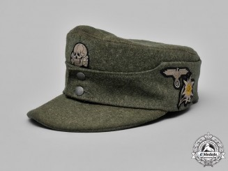 Germany, Waffen-SS. An Enlisted Man's M-43 Mountain Troop Field Cap