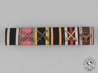 Germany, NSDAP. A First and Second War Medal Ribbon Bar