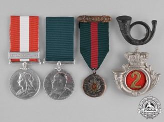 United Kingdom. A Canada General Service, Long Service and QOR Reunion Medals to Pte Henry Fricker