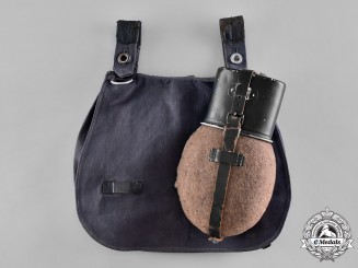 Germany, Luftwaffe. A Canteen with Matching Bread-bag, c. 1942