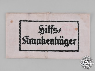 Germany, Wehrmacht. An Auxiliary Stretcher Bearer's Armband