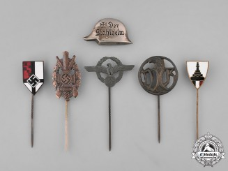Germany. Six Stick Pins and Badges