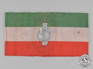 Italy, Fascist. An Early Catholic Trade Union Confederation (CIL) Fascist Period Armband