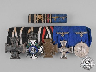 Prussia, State. A Medal Bar with a Houseorder of Hohenzollern, with its Matching Ribbon Bar