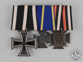 Braunschweig, Dukedom. A Medal Bar with a War Merit Cross and Two other Medals and Awards