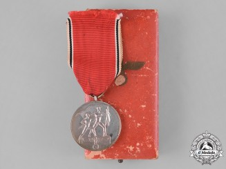 Germany, Third Reich. A Commemorative Anschluss of Austria Medal with Case