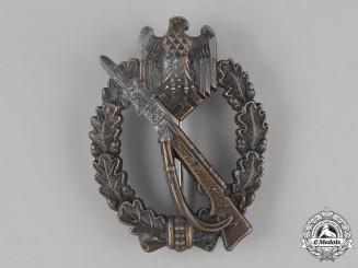 Germany, Wehrmacht. An Infantry Assault Badge, Bronze Grade, by Adolf Schwerdt