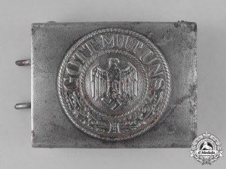Germany, Heer. A Second War Era Heer (Army) EM/NCO Belt Buckle