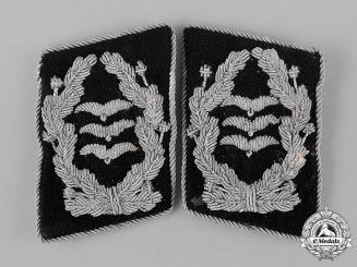 Germany, RLM. A Set of Ministry of Aviation (Reichsluftfahrtministerium) Oberst (Colonel) Collar Insignia