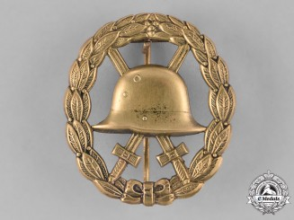 Germany, Heer. A First War Wound Badge, Cut Out Gold Grade