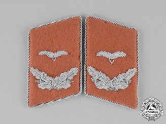 Germany, Luftwaffe. A Set of Lieutenant Rank Air Communication Corps Collar Tabs