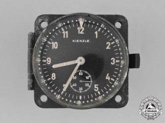 Germany, Luftwaffe. A Cockpit Panel Clock by Kienzle, c. 1942