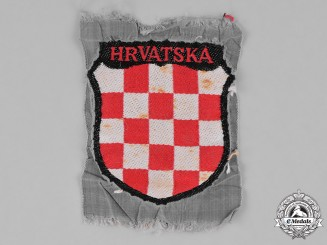 Germany, Wehrmacht. A Croatian Volunteer Sleeve Shield, Tunic Removed