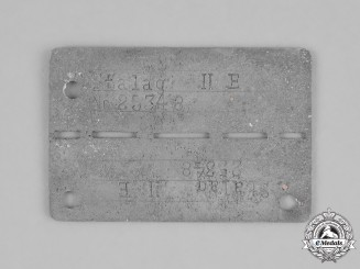 Germany, Third Reich. A Stalag II-E (Schwerin) Identification Tag, Numbered 25348
