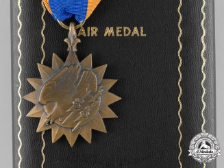 United States. An Air Medal, to J.E. Vaisey, 1945