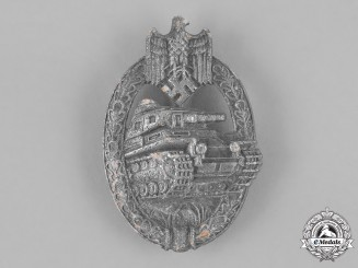 Germany, Wehrmacht. A Tank Badge, Silver Grade by Unknown Maker