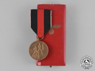 Germany, Third Reich. An Entry into the Sudetenland Commemorative Medal with Case