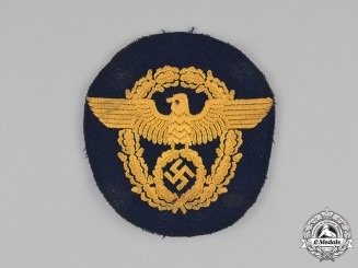 Germany, Ordnungspolizei. A Water Protection Police (Wasserschutzpolizei) Sleeve Patch