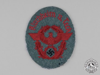 Germany, Ordnungspolizei. A Fire Protection Police (Feuerschutzpolizei) Sleeve Patch