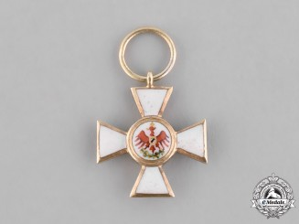 Prussia, Kingdom. A Red Eagle Order in Gold, III Class Miniature, c.1880