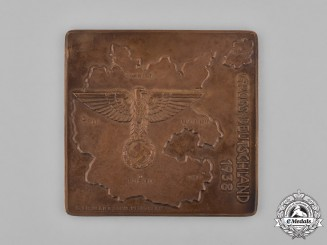 Germany, Third Reich. A 1938 Grossdeutschland (Greater Germany) Plaque