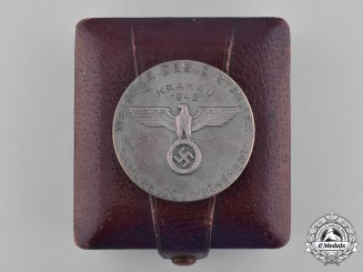Germany. A 1942 Krakow District Shooting Medal with Case