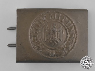 Germany, Heer. A Standard Issue EM/NCO's Belt Buckle, by Richard Sieper & Söhne