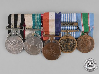 Nepal, Kingdom. A Korea & Long Service Medal Bar