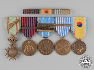 Belgium (Kingdom). Korean War Service Group of Five