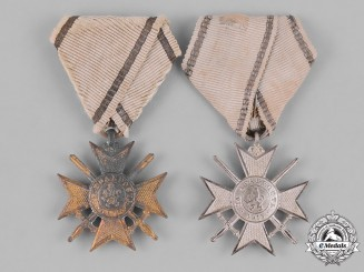 Bulgaria, Kingdom. Two First World Soldier's Crosses for Bravery 1915