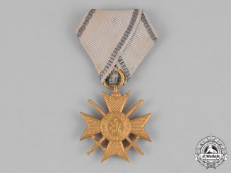 Bulgaria, Kingdom. A First War II Class Soldier's Cross for Bravery 1915