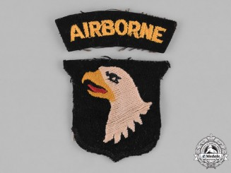 United States. A Second War Theater-Made 101st Airborne Division Insignia