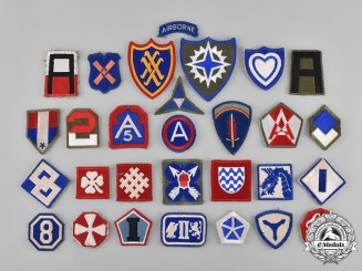 United States. A Lot of Fifty-One Second War United States Army Embroidered Patches