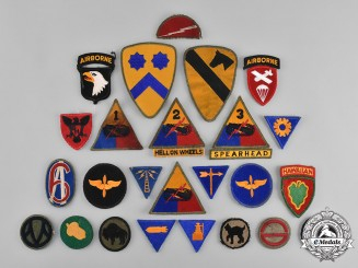 United States. A Lot of Forty-Three Second War United States Army Embroidered Patches