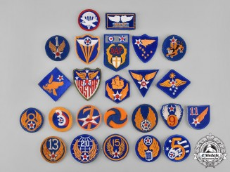 United States. A Lot of Twenty-Four Second War United States Army Air Force (USAAF) Embroidered Patches
