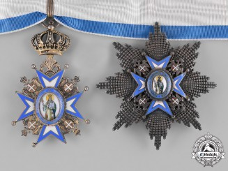 Serbia, Kingdom. An Order of St. Sava, II Class Grand Officer, by Huguenin, c.1935
