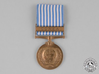 "Colombia, Republic. A United Nations Service Medal for Korea, Unofficial Spanish Version, Type I with ""Corea"" Bar"