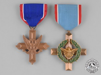 United States. Two Gallantry  Crosses